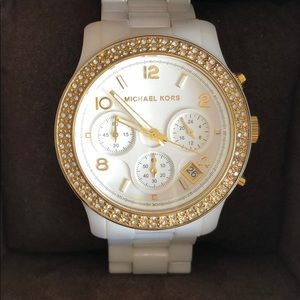Michael Kors Ceramic Chronographic Watch